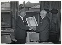 C. J. Stubblefield , Director and J. Phemister (retiral) 1963.The information recorded here is copied from notes on the back of the photograph.