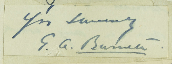 Signature: George Alexander Burnett