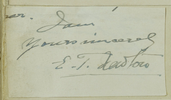 Signature: Edwin Tulley Newton